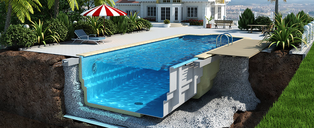 Winnerstroy - Design and construction company Glass Fiber Pools in Kiev Swimming Pools